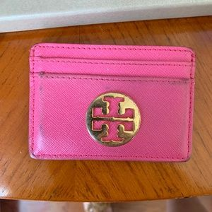 Tory Burch Pink Credit Card Case Holder